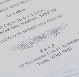 Not On The High Street .com - Classic Personalised Wedding Invitation