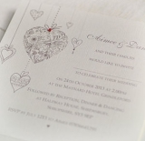 Not On The High Street .com - Hearts Personalised Wedding Invitations