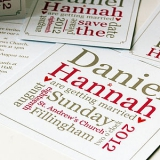 Not On The High Street .com - Personalised Word Block Wedding Stationery