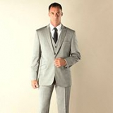Debenhams - Silver tonic tailored fit 1 button jacket