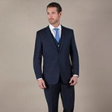 Debenhams - Navy pick and pick 2 button suit jacket