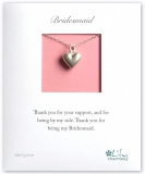 Lily Charmed - Bridesmaid Heart Necklace