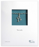 Lily Charmed - Silver Music Note Bracelet