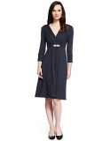 Marks and Spencer - Metal Bar Trim Belted Fit & Flare Dress