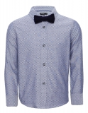 Marks and Spencer - Pure Cotton Jacquard Shirt with Bow Tie