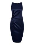 House of Fraser - Untold Satin Jewel Build Up Shoulder Dress