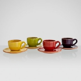 John Lewis - John Lewis Al Fresco Espresso Cups and Saucers