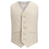 John Lewis - John Lewis Heirloom Boys' Linen Waistcoat