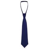 John Lewis - John Lewis Boy Herringbone Slip-On Tie, Navy