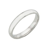 Ernest Jones - 18ct white gold extra heavy 3mm court ring