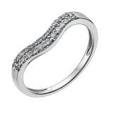 Ernest Jones - 18ct white gold 1/5 carat diamond shaped band