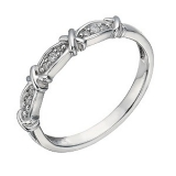 Ernest Jones - 9ct white gold diamond kiss ring