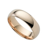 Ernest Jones - 9ct gold super heavy 6mm court ring