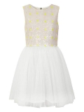 House of Fraser - Yumi Girls Girl`S Sequin Daisy And Mesh Dress