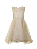 House of Fraser - Little Misdress Girl`S 2-In-1 Lace Dress
