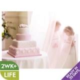 Waitrose - Fiona Cains Pink Polka Dot & Roses Wedding Cake