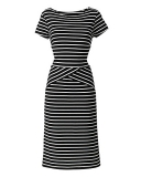 Simply Be - SIMPLY BE JOANNA HOPE STRIPE JERSEY DRESS