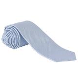 John Lewis - John Lewis Semi Plain Wedding Tie, Pale Blue