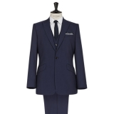 John Lewis - John Lewis - Reiss Garda Peak Lapel 3-Piece Wedding Suit, Dark Navy