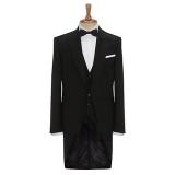 John Lewis - John Lewis Tailored Morning Suit Tailcoat, Black