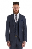 Moss Bros - Moss Bros Slim Fit Grey Flannel Wedding Suit