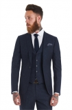 Moss Bros - Moss Bross Slim Fit Blue Speckled Wedding Suit