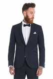 Moss Bros - Moss Bros. Slim Fit Navy Shawl Wedding Suit