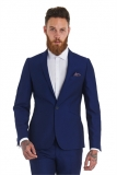 Moss Bros - Moss Bros. Electric Blue Wedding Suit