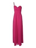 Jane Norman - Jane Norman One Shoulder Embellished Maxi Dress