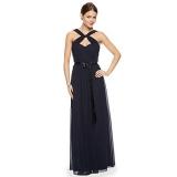 Debenhams - Debenhams Debut Navy blue twist neck maxi dress