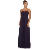 Debenhams - Debenhams Debut Ink blue ruched strapless maxi dress