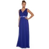 Debenhams - Debenhams Debut Cobalt blue Grecian-pleated maxi dress