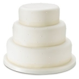 Waitrose - Fiona Cairns Undecorated 3-tier Wedding Cake