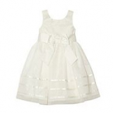 Debenhams - Designer girl's ivory appliqued flower dress