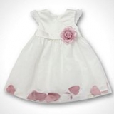 Debenhams - Baby's rose petal hem dress
