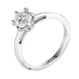 Ernest Jones - 18ct white gold one carat diamond solitaire ring