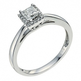 Ernest Jones - 18ct white gold 0.50ct diamond solitaire