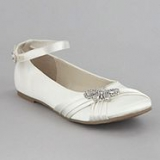 Debenhams - Girl's ivory butterfly pumps