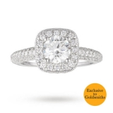 Goldsmiths - Vera Wang Love Brilliant Cut 2.00 Solitaire and Diamond Set Ring