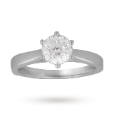Goldsmiths - Solitaire blossom cut 1.00 carat diamond ring in platinum