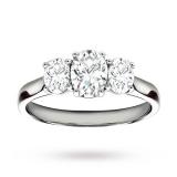 Goldsmiths - Platinum 1.50 Carat Diamond Three Stone Oval Ring