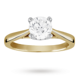 Goldsmiths - Solitaire Brilliant Cut 1.00 Carat Diamond Ring, 18 Ct Yellow Gold