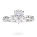 Goldsmiths - Pear Cut 1.13 Ct Solitaire Engagement Ring