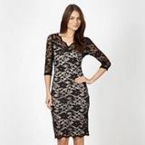 Debenhams - Diamond by Julian Macdonald - Designer black lace bodycon dress
