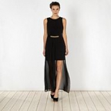 Debenhams - Diamond by Julien Macdonald - Designer black side split maxi dress