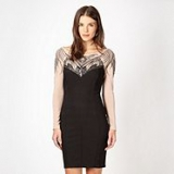 Debenhams - Lipsy - Black mesh bodycon dress