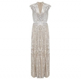 John Lewis - Somerset by Alice Temperley Cap Sleeve Sequin Dress, Silver
