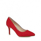 Debenhams Red Herring Red pointed high court shoes