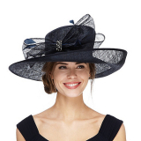 Debenhams Debut Navy diamante hat