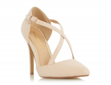 Debenhams Head Over Heels by Dune Natural court shoe